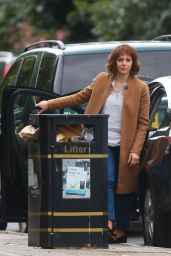 "Amanda Abbington - Filming the new Netflix Series ""Safe"" in Manchester 07/21/2017"