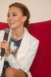 Angelique Boyer - Press Conference at the SBT Headquarters in Sao Paulo 07/16/2017