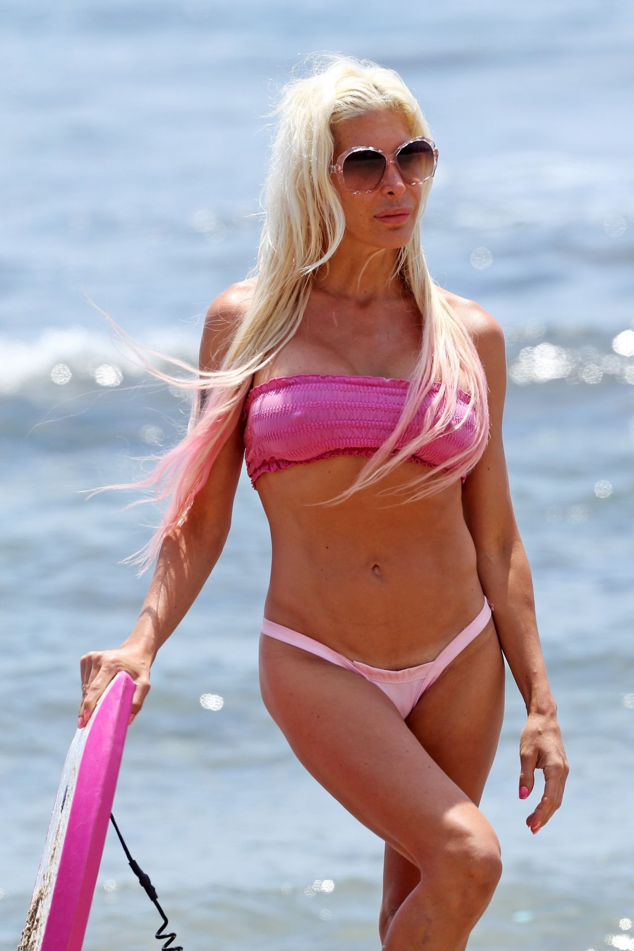 Frenchy Morgan in Pink Bikini in Malibu
