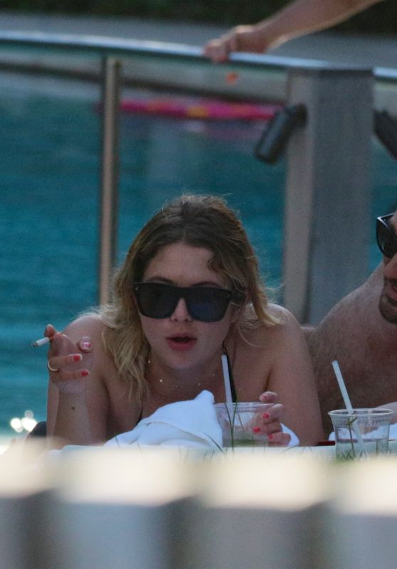 Ashley Benson and a Mystery Man in Miami, FL 07/02/2017