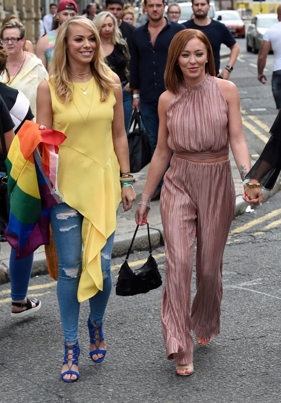 Atomic Kitten Pose For Pictures in Liverpool 07/29/2017
