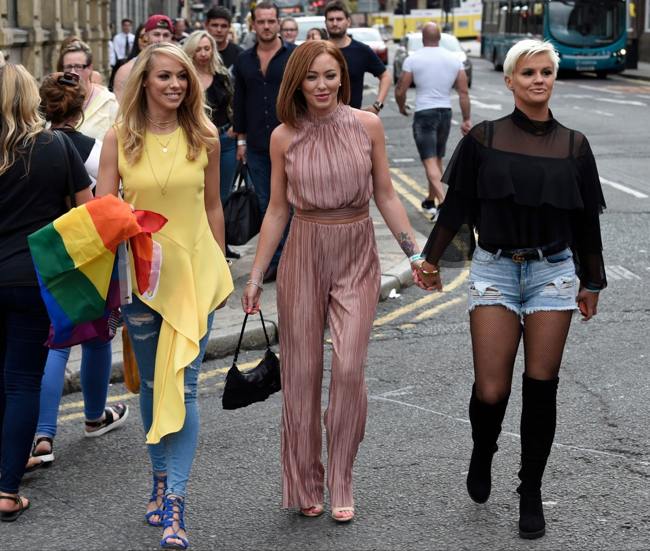 Atomic kitten pose for pictures in liverpool - 2019 year