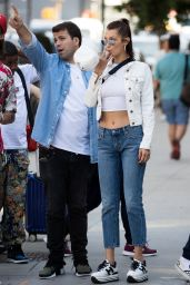 Bella Hadid Chic Street Style - With Her Friends in NYC 07/26/2017