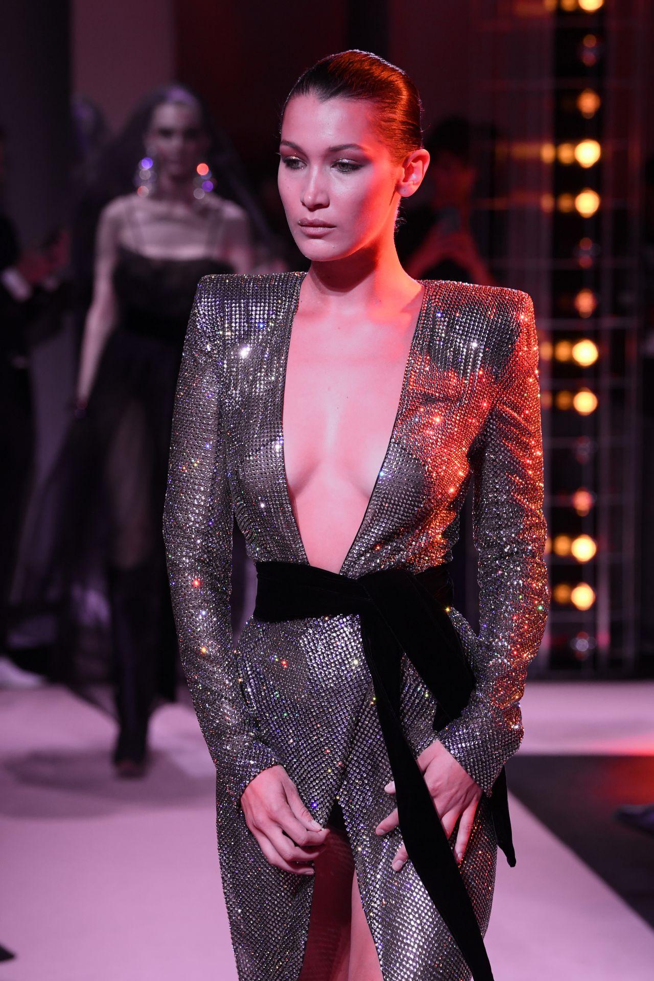 Bella Hadid At Ralph Lauren Runway Show At New York: Alexandre Vauthier Show In Paris