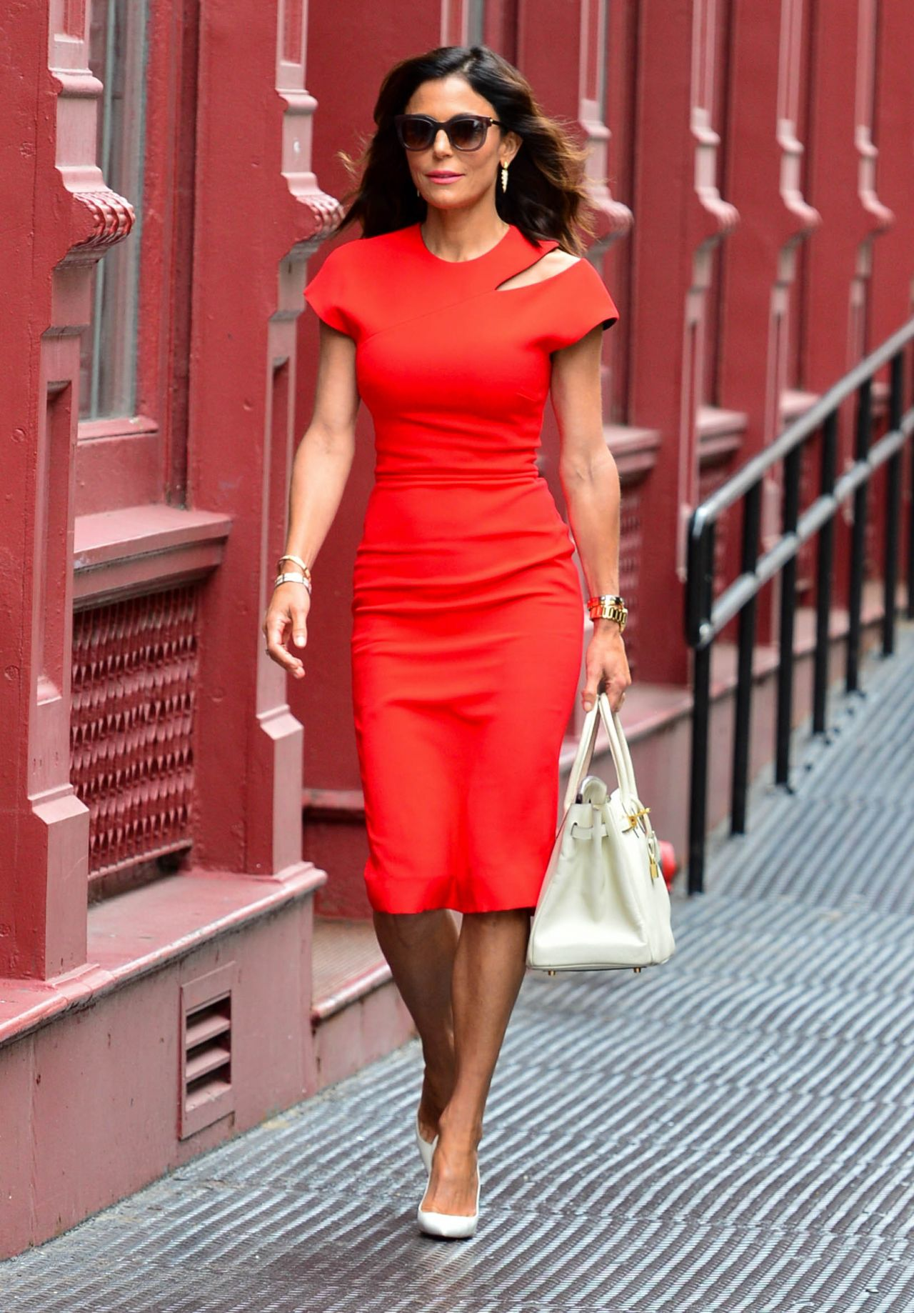 Bethenny Frankel In Red Dress Spotted Soho Nyc 07 11 2017