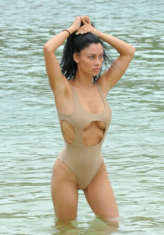 Cally Jane Beech in Swimsuit Flaunting Her Post-Baby Body - Ibiza 07/26/2017