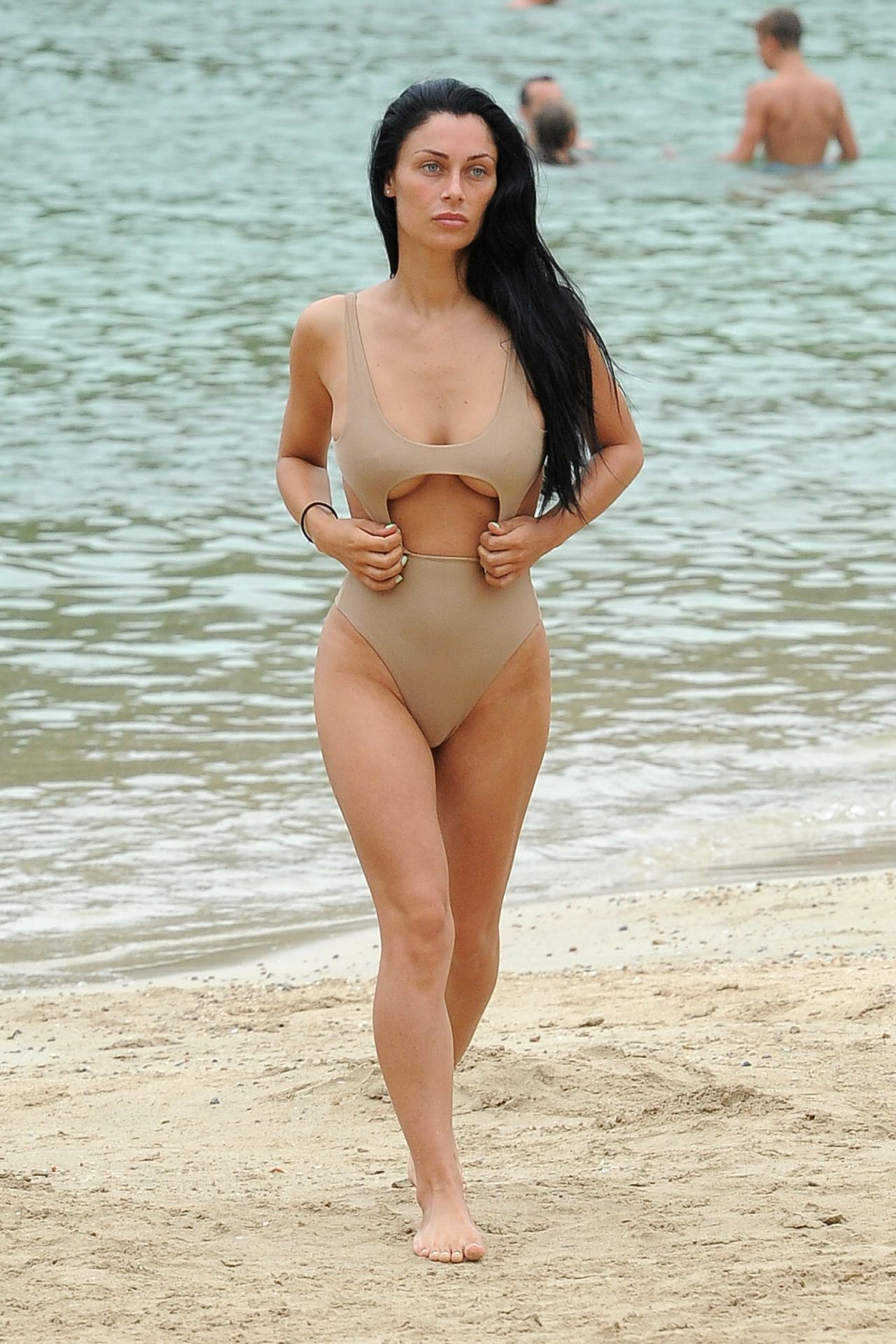 Cally Jane Beech In Swimsuit Flaunting Her Post Baby Body