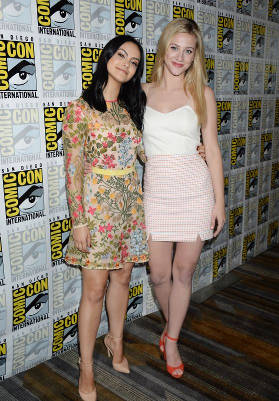 """Camila Mendes and Lili Reinhart - """"Riverdale"""" TV Show Photocall at Comic-Con International in San Diego 07/22/2017"""