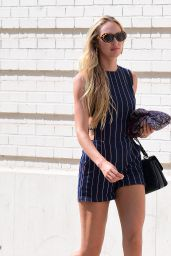 Candice Swanepoel Summer Street Style - NYC 07/15/2017