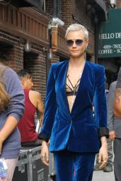 Cara Delevingne - Arriving to Appear on The Late Show with Stephen Colbert in NYC 07/20/2017