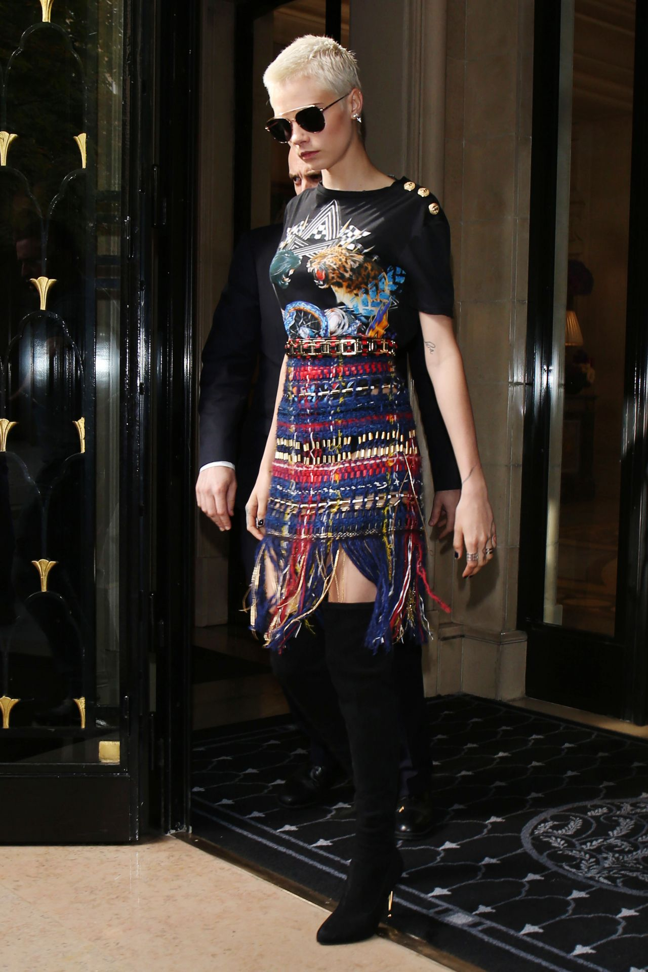 Cara Delevingne Fashion And Style Paris France 07 05 2017