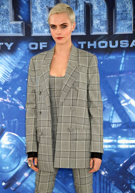 """Cara Delevingne - """"Valerian and the City of a Thousand Planets"""" Photocall in London 07/24/2017"""