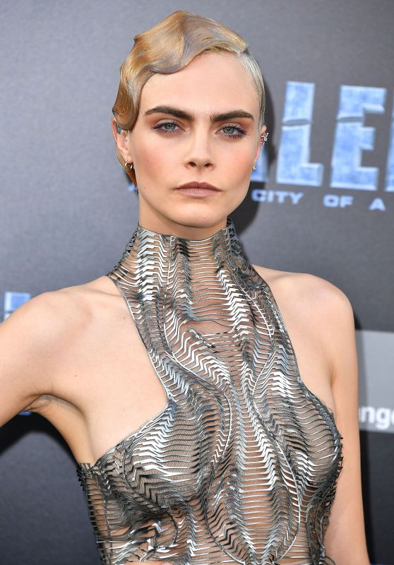 """Cara Delevingne - """"Valerian and the City of a Thousand Planets"""" Premiere in Hollywood 07/17/2017"""