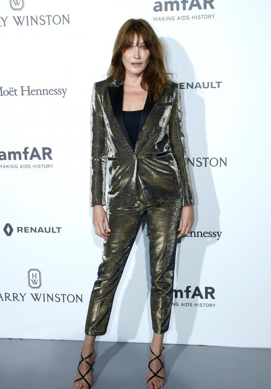 Carla Bruni at amfAR Gala - Haute Couture Fashion Week in Paris 07/02/2017