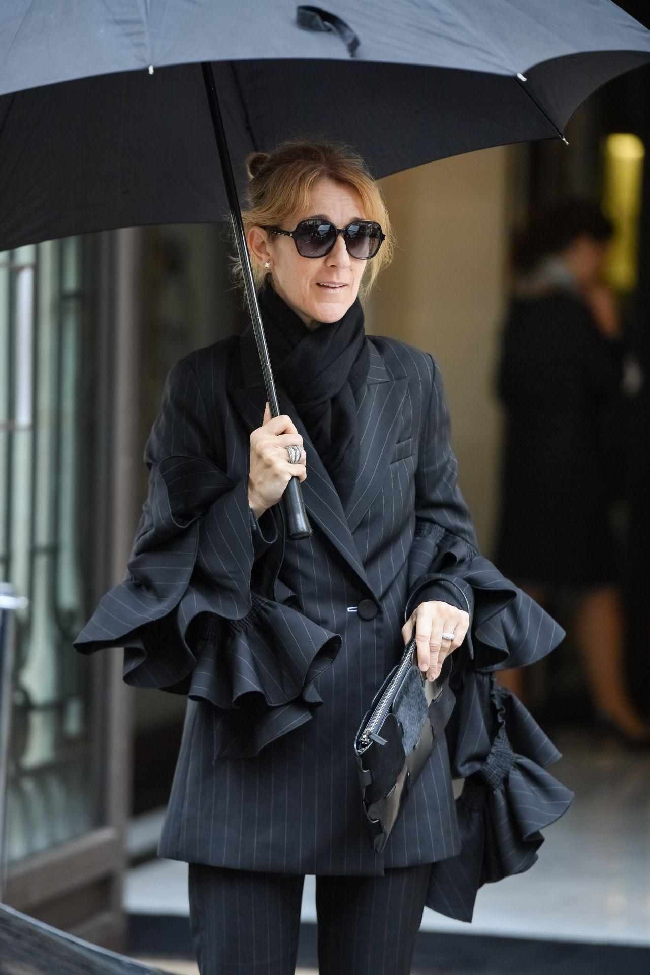 Celine Dion Leaving The Royal Monceau Hotel In Paris 07