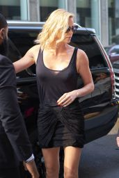 """Charlize Theron - Arriving to """"The Howard Stern Show"""" to Promote """"Atomic Blonde"""" in NYC 07/19/2017"""