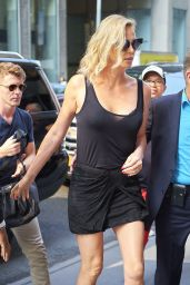 "Charlize Theron - Arriving to ""The Howard Stern Show"" to Promote ""Atomic Blonde"" in NYC 07/19/2017"