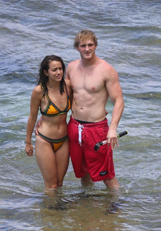 Chloe Bennet in Bikini - With Her New Boyfriend Logan Paul in Hawaii 07/03/2017