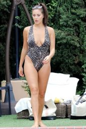 Chloe Goodman and Lauryn Goodman in a Swimsuit at Their Hotel Pool in LA 06/30/2017