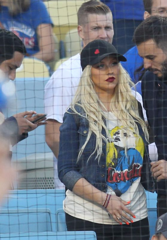 Christina Aguilera - Los Angeles Dodgers Game 07/21/2017
