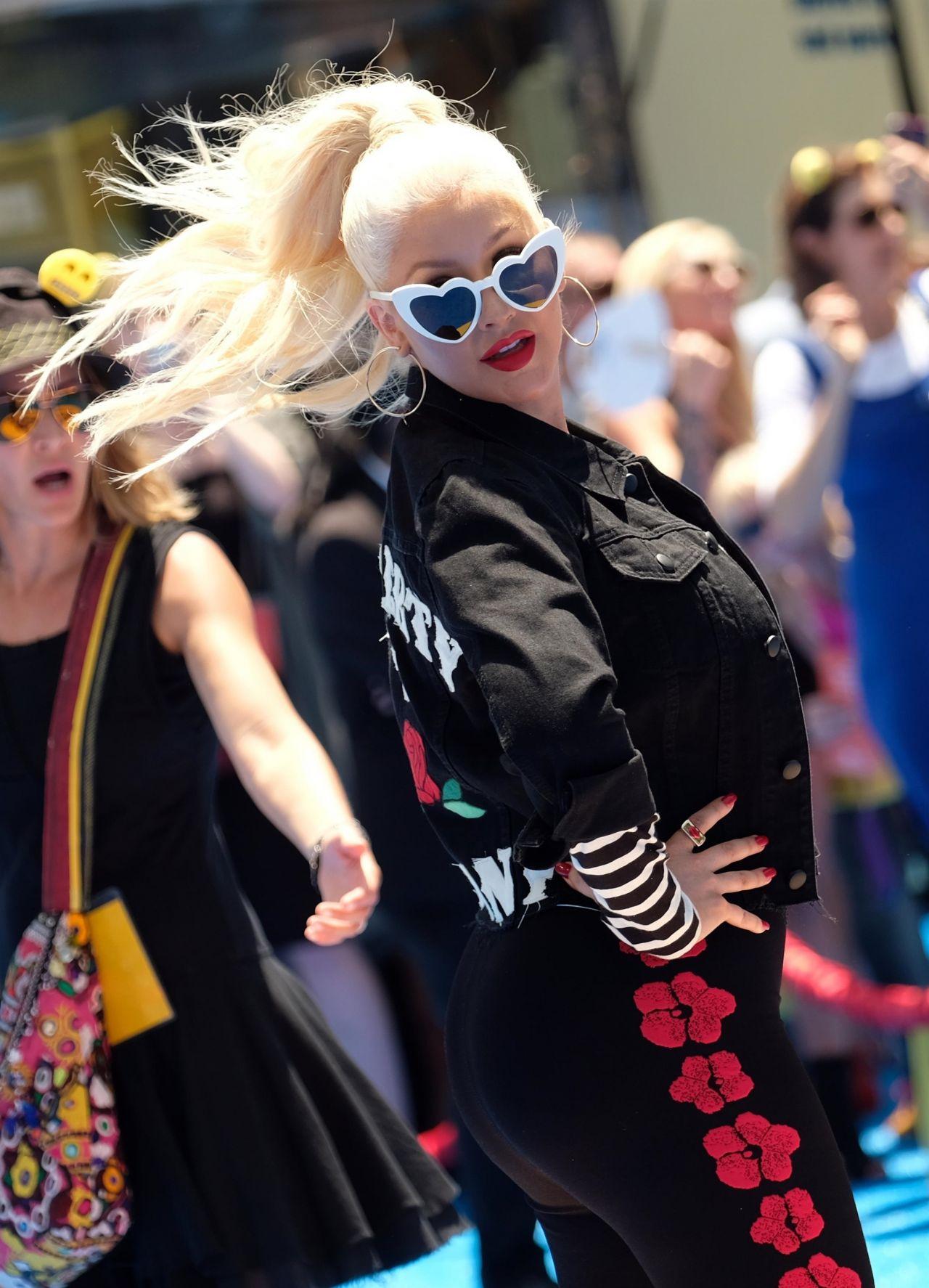 """Christina Aguilera – """"The Emoji Movie"""" Premiere in ..."""