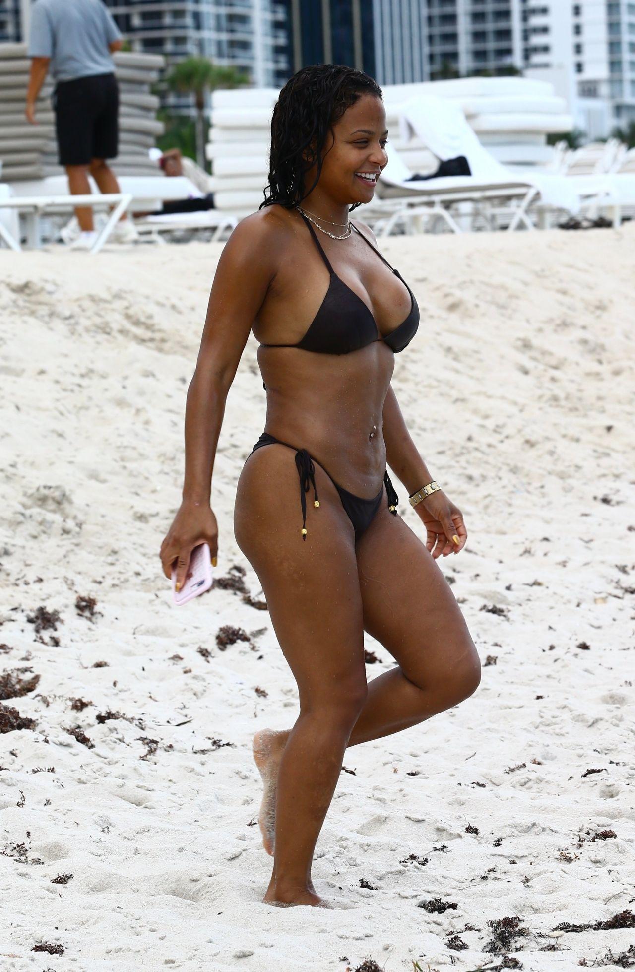 Christina milian on beach in miami 8