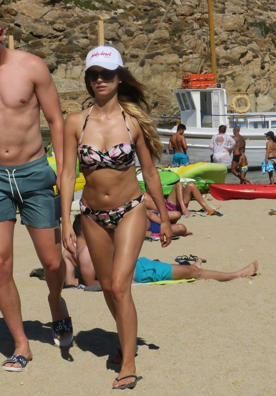 Christina Raphaella in Bikini - Mykonos, Greece 07/10/2017