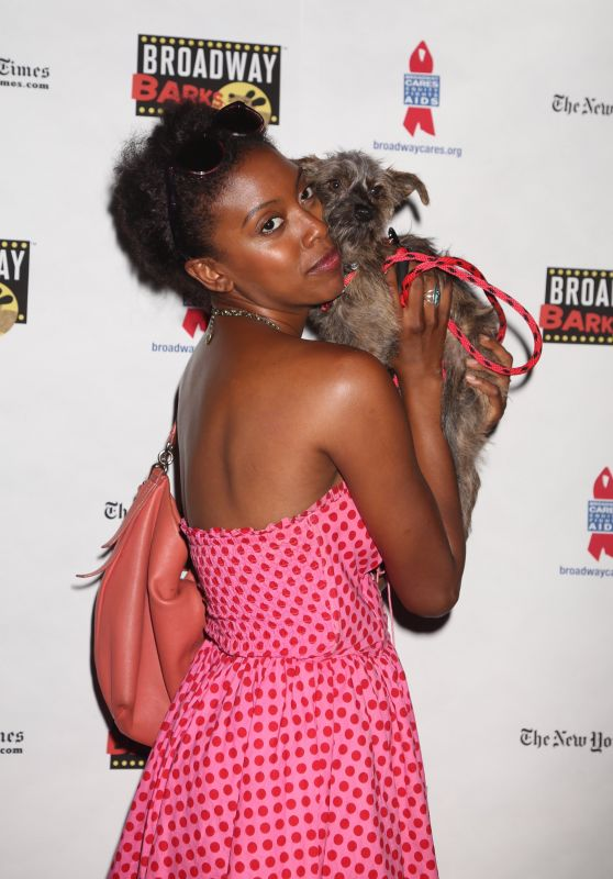 Condola Rashad – Broadway Barks Animal Adoption Event in New York 07/08/2017