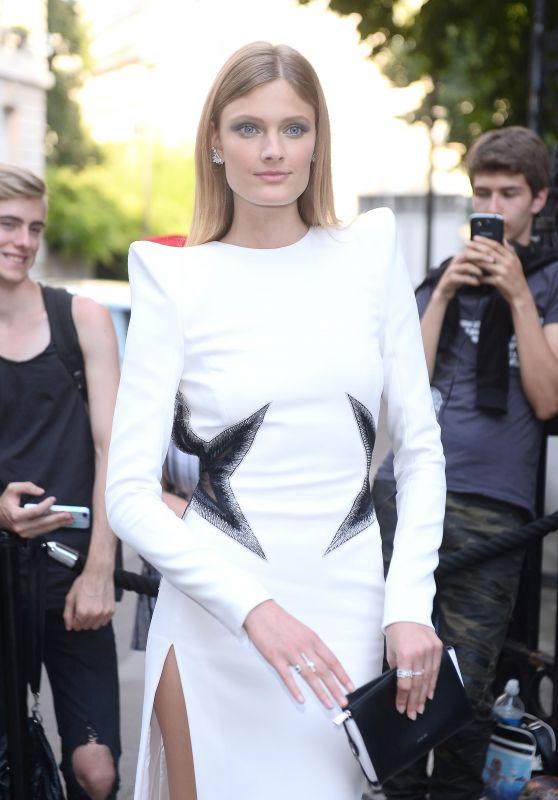 Constance Jablonski – Vogue Party at Paris Fashion Week 07/04/2017