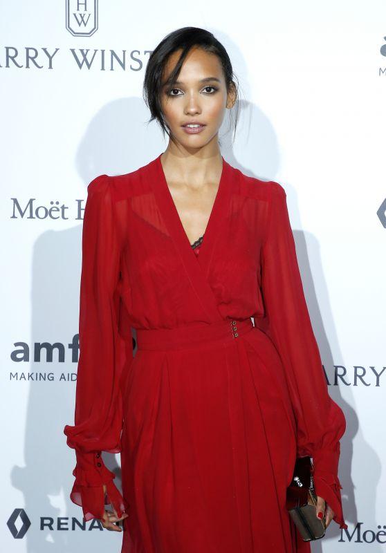 Cora Emmanuel at amfAR Gala – Haute Couture Fashion Week in Paris 07/02/2017