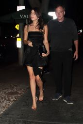 Daniella Pick Night Out With Quentino Tarantino - Madeo in West Hollywood 07/15/2017