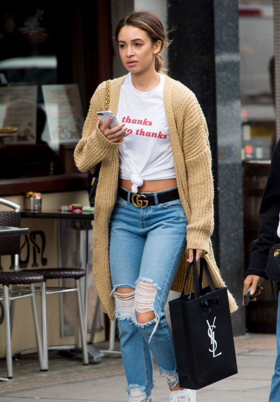 Danielle Peazer in Ripped Jeans - London 07/20/2017