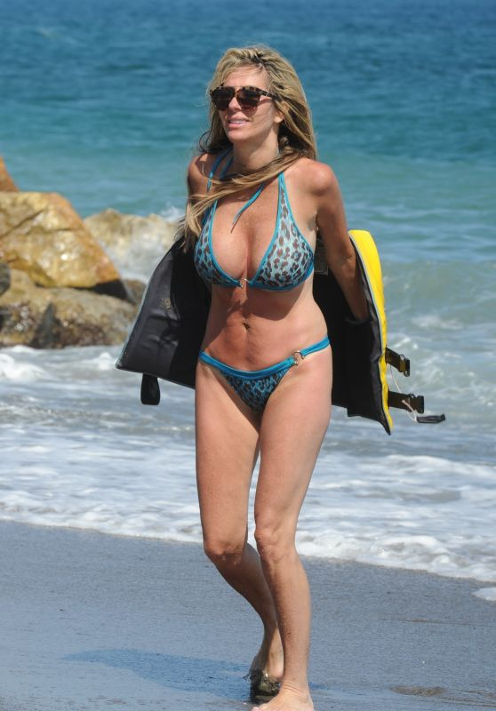Dawn Ward in Bikini - Beach in Marbella 07/21/2017