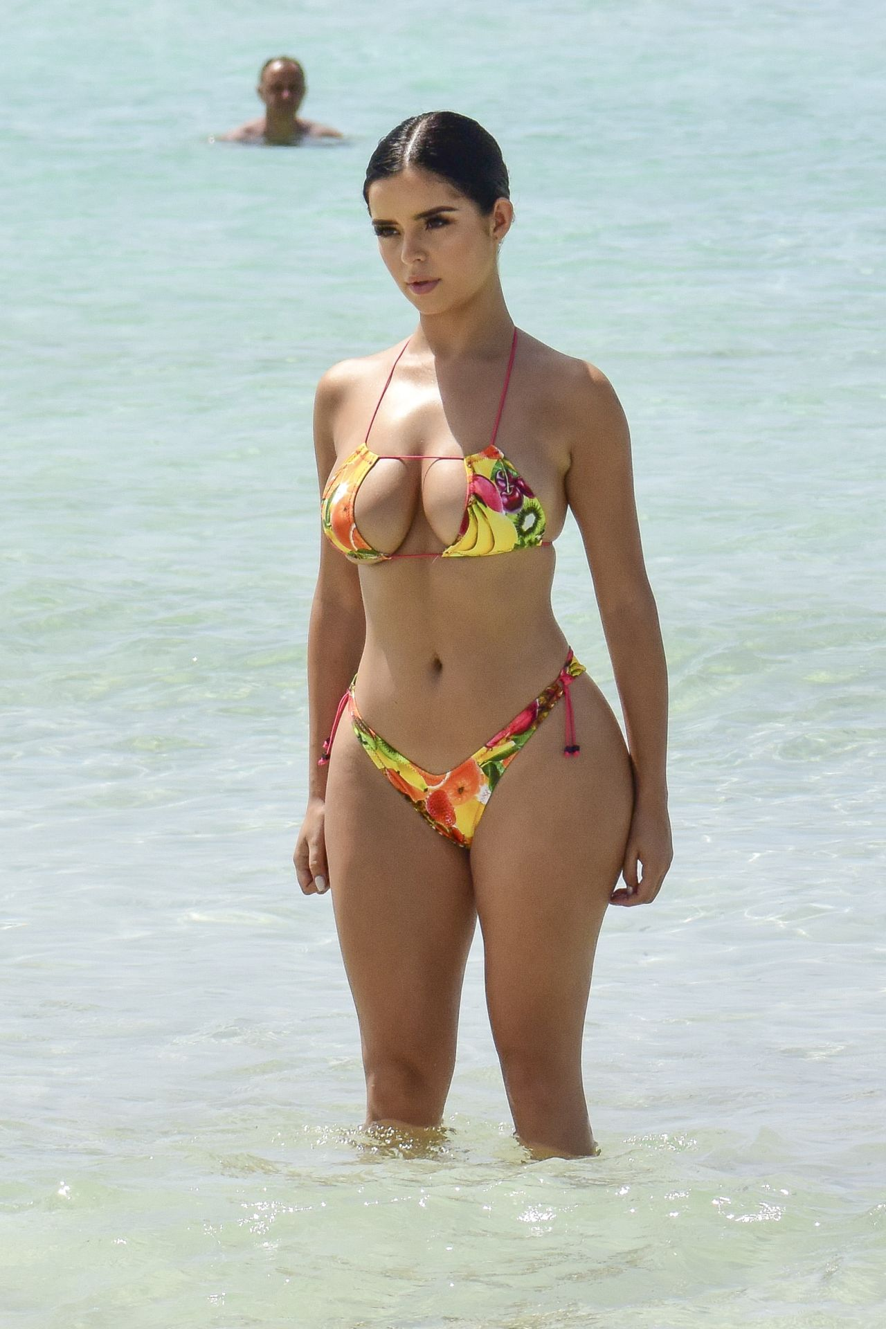 Demi Rose in Pink Bikini at a Beach in Cape Verde Pic 7 of 35