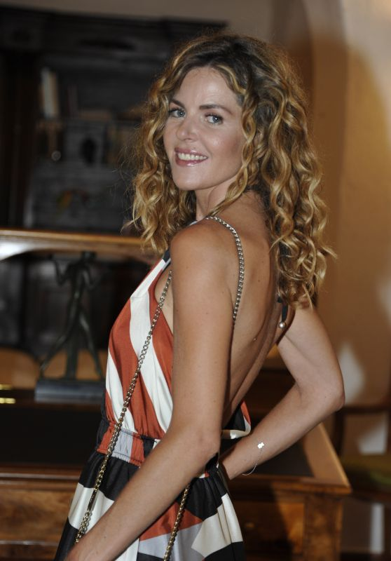 Elisabetta Pellini at Gala Dinner Vila Costa in Ischia, Italy 07/15/2017