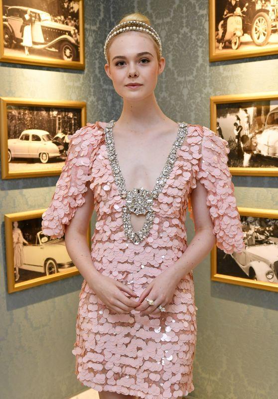 Elle Fanning at Miu Miu Dinner - Haute Couture Fashion Week in Paris 07/02/2017
