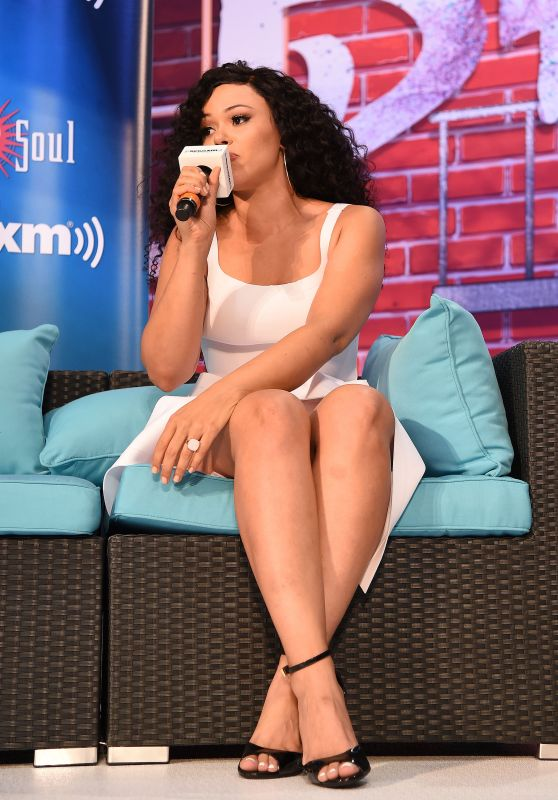 Elle Varner - Sirius XM Radio Interview at the Ford Motor Company Booth, Essence Festival in New Orleans 07/01/2017
