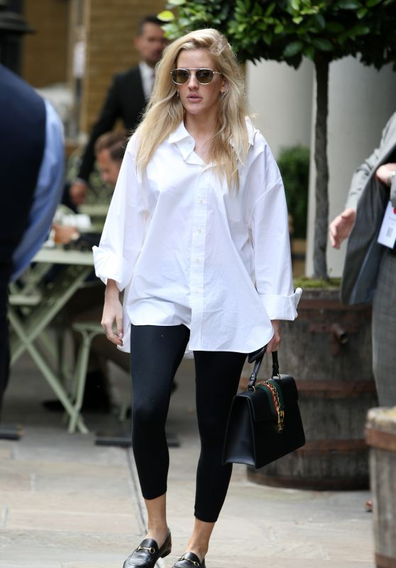 Ellie Goulding in Casual Attire - London, UK 07/12/2017