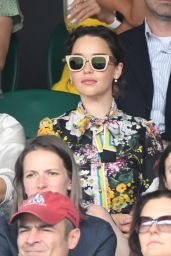 Emilia Clarke - Wimbledon Championships in London Finals 07/16/2017