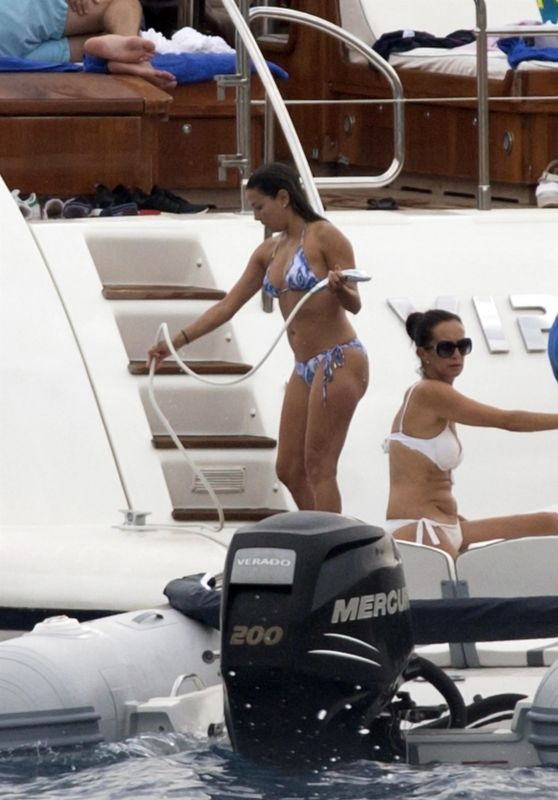 Eva Longoria - Enjoys a Day by the Sea on Board of a Luxury Yacht in Mallorca 07/23/2017