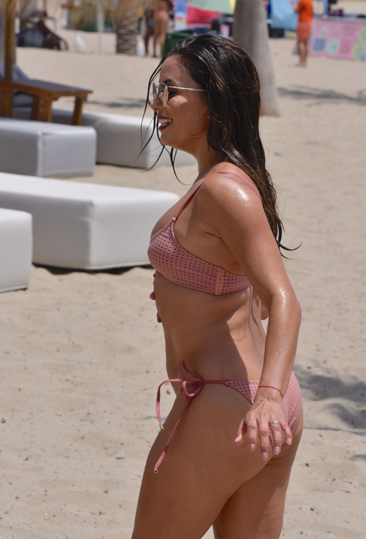 Eva Longoria In Bikini At The Beach In Marbella Spain 07
