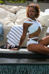 Eva Marcille in a Keva J Bikini - South Beach Hotel in Miami 07/20/2017