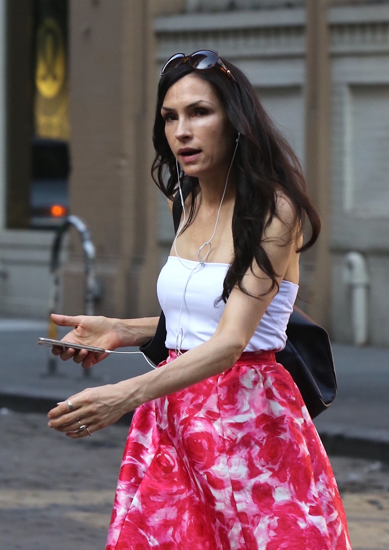 Famke Janssen - Soho in New York 07/14/2017 • CelebMafia