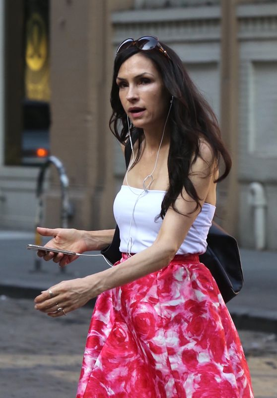 Famke Janssen - Soho in New York 07/14/2017