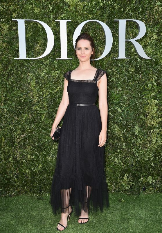 Felicity Jones at Christian Dior Photocall in Paris 07/03/2017