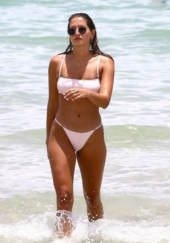 Francesca Aiello in a Bikini - Beach in Miami, FL 07/20/2017