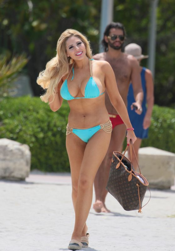 Francesca Larrain in Bikini at the Beach in Miami Beach 07/23/2017