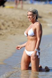 Frankie Essex in a White Bikini in Los Angeles 07/04/2017