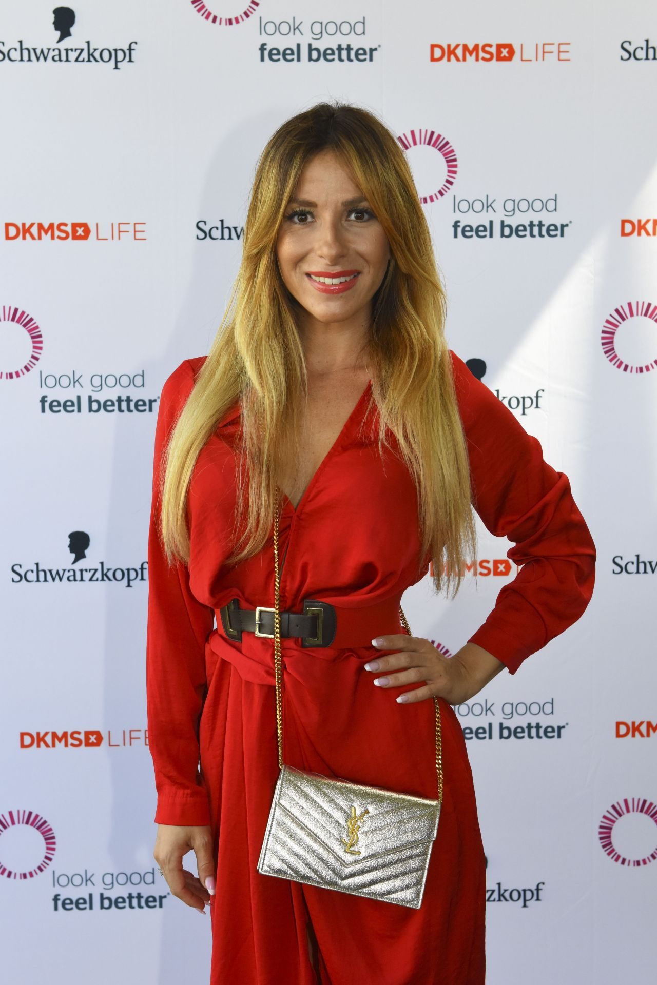 Gulcan kamps dkms life charity ladies lunch in dusseldorf germany