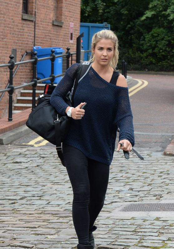 Gemma Atkinson - Leaves the Key 103 Radio Studios in Manchester, UK 07/25/2017